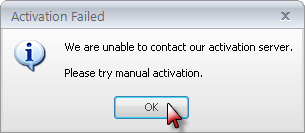 Activation Failed