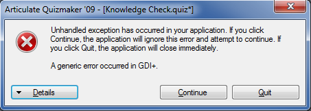 A generic error occurred in GDI+